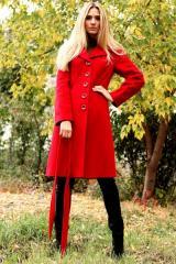 Пальто зимнее Валерия красный. Код продукта:131з