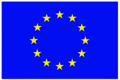 Flag of the EU. Vinyl sticker or flexible magnet