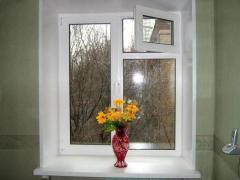 Eurowindows with a window leaf, eurowindows,