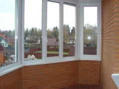 Windows are metalplastic sound-proof, windows of
