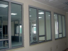 Windows from warm and cold aluminum, warm aluminum