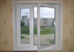 Windows are plastic two-chamber, two-chamber