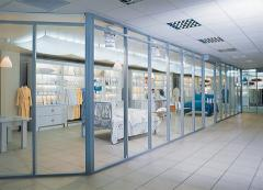 Trade partitions glass, glass partitions in