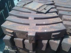 Колодки чугунные тормозные вагонные типа «С» ГОСТ