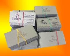 Business cards with a stamping
