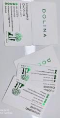 Business cards a premium stamping cutting on a