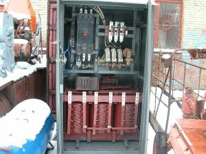 Complete transformer station for heat treatment of
