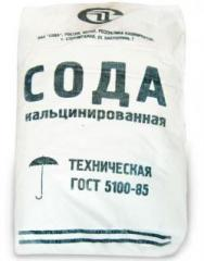 The soda calcinated sodium carbonate. Na2CO3. GOST 5100-85