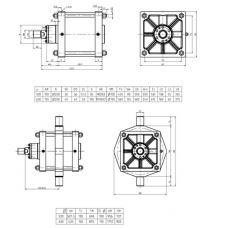 Пневмоцилиндр диаметр поршня 400, 500, 630 мм