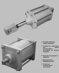 Special pneumatic cylinders for applications in