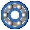 Ball bearings polymeric Xiros of high wear