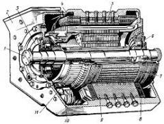 Фланец вала тягового двигателя