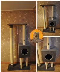 Игровой комплекс для котов. Когтеточка