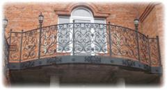 Ограждения для балконов и террас кованные