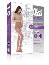Tights for pregnant women, 140 den, a compression
