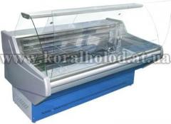 Refrigerating show-window for meat and fish