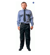 Trousers. The clothes are corporate, uniform
