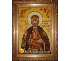 Икона именная из янтаря Юрий 30*60
