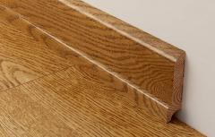 Plinth wooden, a decor for a floor and walls.