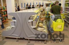 Холодильная витрина пристенная для магазинов самообслуживания Парус