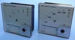 Ampermeters and EA alternating current voltmeters,