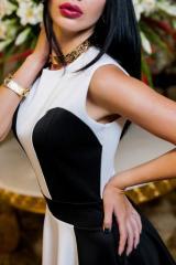 Платье ЭМИЛИ ( молоко + черный)