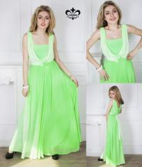 Платье Мираж (салатный)
