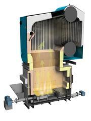 Паровой котел на биомассе E-1,0-0,9РД