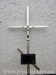 Крест сварной ритуальный с элементами ковки