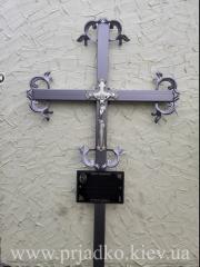 Крест на могилу  Крест сварной ритуальный с элементами ковки«ЧП Прядко»