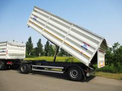 Dumping Krone trailer