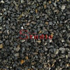 Щебень черный базальтовый  8-12 мм