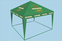 Commercial frame and tent constructions