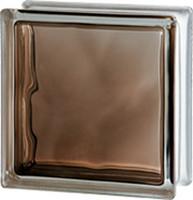 Стеклоблок Brilly 1908\W Bronze (Чехия) яркий коричневый