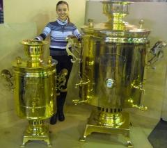 Samovar of 200 l zharovy for fairs, holidays
