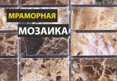 Coverings of floors mosaic, mosaic. Marble mosaic