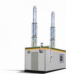 Solid propellant modular boiler 100 - 1000 kW