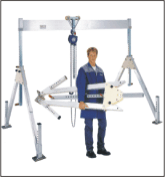 The portal aluminum crane for raising and cargo