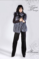 Vests from fur of the silver fox