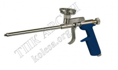 The gun for putting polyurethane foam
