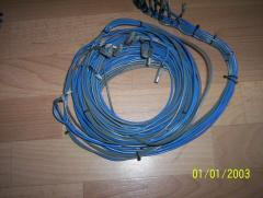 Wires for grounding. A wire copper for welding or