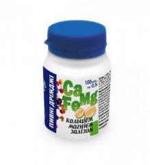 Beer yeast with calcium, magnesium and iron