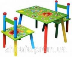 Стол и 2 стула W02-81 Львенок
