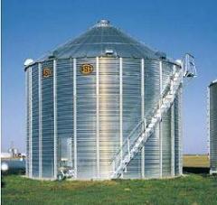 Бункер плоскодонный для хранения зерна
