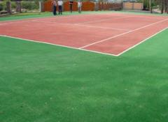 Tennis courts, construction