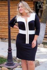 Черно-белое Платье №576 (Дг).