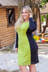 """Коктейльное платье """"Лаймовый микс""""  №577"""