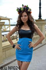 Нарядное короткое платье №024 (АЦ).