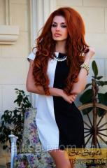 Платье черное с белым №400 (ВШ).