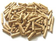 Пелеты (гранулы) из лузги подсолнечника и